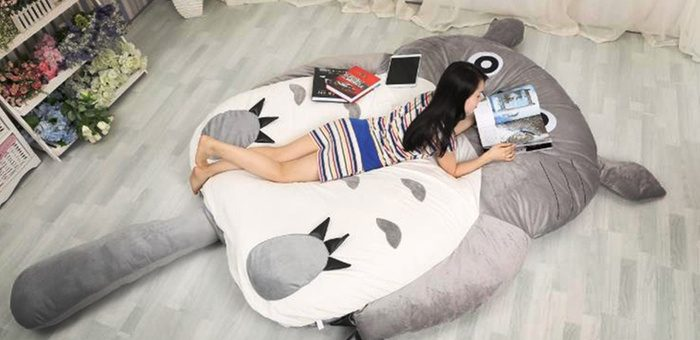 Sweet dreams on Totoro bed