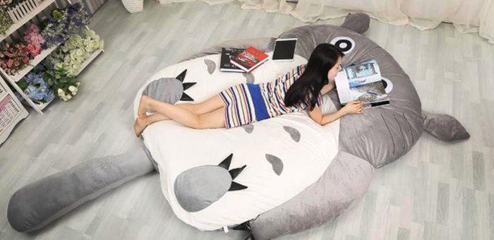 Sweet dreams on Totoro bed